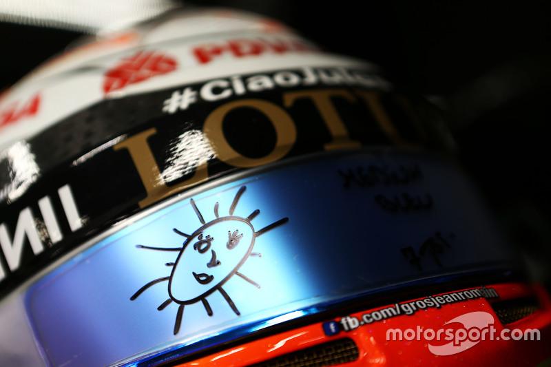 Helm Romain Grosjean, Lotus F1 Team