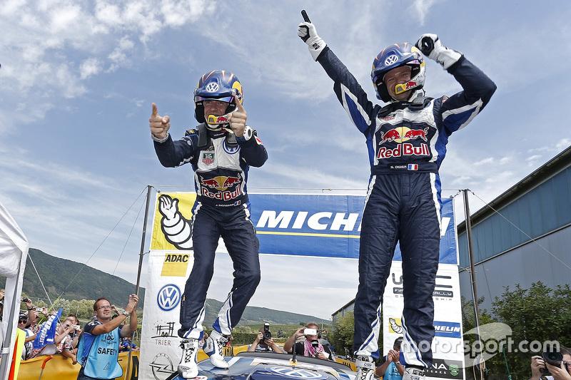 Pemenang balapan, Sébastien Ogier, dan Julien Ingrassia, Volkswagen Polo WRC, Volkswagen Motorsport