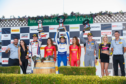 GT Cup podium: First place #17 Global Motorsports Group Porsche 911 GT3 Cup: Alec Udell, second place #02 TruSpeed Autosport Porsche 911 GT3 Cup: Sloan Urry and third place #11 Kelly-Moss Motorsports Porsche 911 GT3 Cup: Colin Thompson