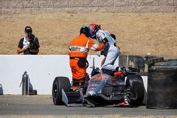 James Jakes, Schmidt Peterson Motorsports crash