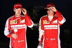 Kimi Raikkonen, Ferrari con Sebastian Vettel, Ferrari