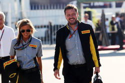 Paul Hembery, Pirelli Motorsport Director with his Personal Assistant Ilaria Parolari