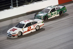 Brad Keselowski, Team Penske Ford and Mike Bliss, Chevrolet