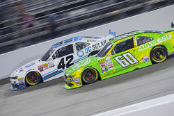 Brennan Poole, HScott Motorsports with Chip Ganassi and Chris Buescher, Roush Fenway Racing Ford