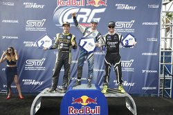 Podium: winner Scott Speed and second place Tanner Foust, third place Nelson Piquet Jr.