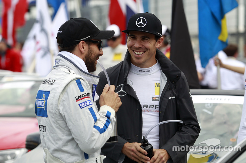 Gary Paffett, ART Grand Prix Mercedes-AMG C63 DTM and Robert Wickens, HWA AG Mercedes-AMG C63 DTM