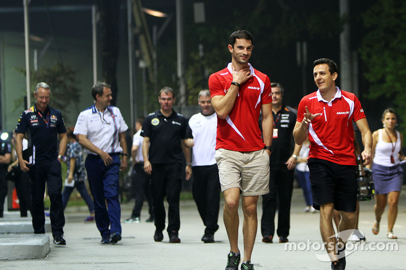 Alexander Rossi, Manor Marussia F1 Team with Fabio Leimer, Manor Marussia F1 Team Test and Reserve Driver