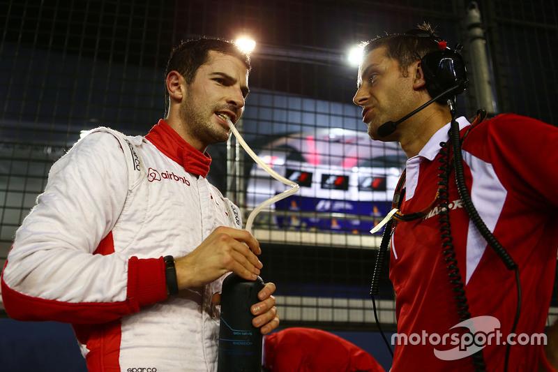 Alexander Rossi, Manor F1 Team, in der Startaufstellung