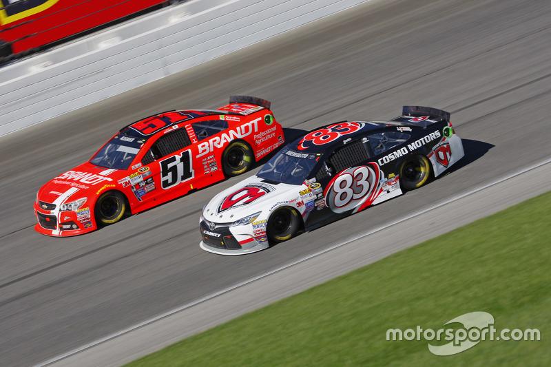 Метт ДіБенедетто, BK Racing Toyota та Джастін Алльгайер, HScott Motorsports Chevrolet