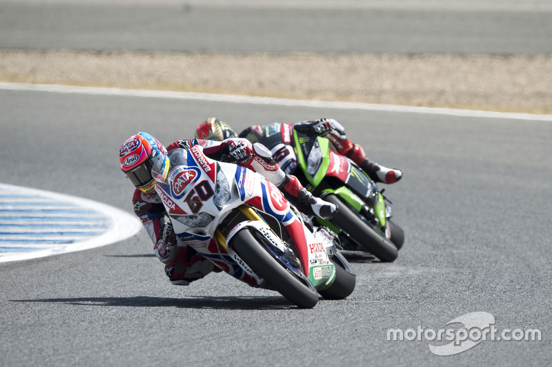 Michael van der Mark, Pata Honda, und Jonathan Rea, Kawasaki