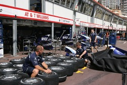 The Williams F1 Team, pit garages
