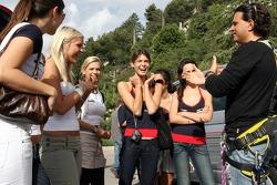 Formula Unas girls in a mountain climbing expedition: Hloise Bien, Rebecca Blomgren, Katja Semenova and Tahnee Frijters