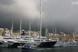 Stormy weather over Monaco