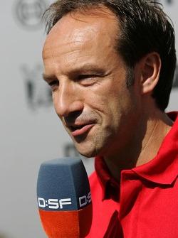 Marco Werner talks with German TV