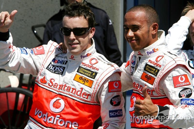 Гран Прі Канади 2007: перший поул Льюіса Хемілтона, McLaren MP4-22 (з напарником по команді Фернандо Алонсо)