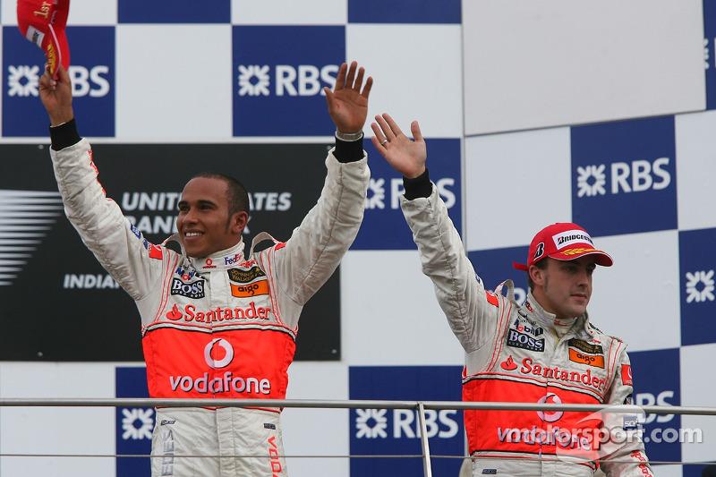 Lewis Hamilton y Fernando Alonso 2007