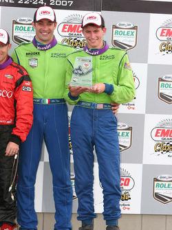 Podium: Colin Braun and Max Papis celebrate third place