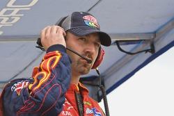 Interim crew chief, Jeff Meendering, calls his driver