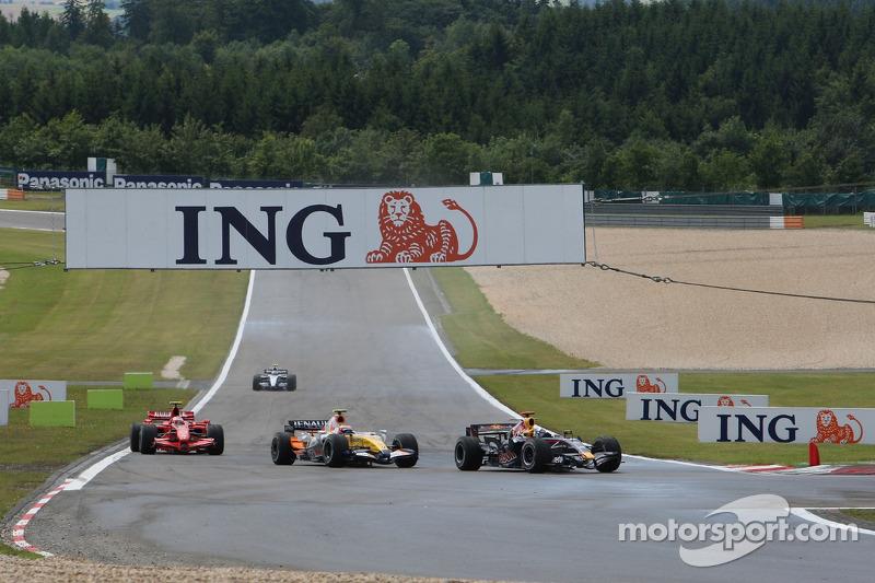 David Coulthard, Red Bull Racing, Giancarlo Fisichella, Renault F1 Team, Kimi Raikkonen, Scuderia Ferrari