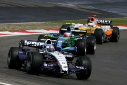 Alexander Wurz, Williams F1 Team, Rubens Barrichello, Honda Racing F1 Team, Giancarlo Fisichella, Renault F1 Team