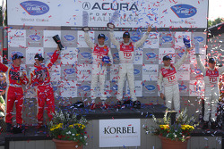 LMP1 Podium: class winners Emanuele Pirro and Marco Werner, second place Rinaldo Capello and Allan McNish, third place Greg Pickett and Klaus Graf