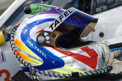 The helmet of Jim Tafel