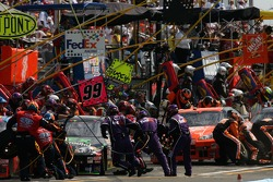 Pitstop for Denny Hamlin and Tony Stewart