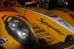 Wear and tear on the #7 Penske Motorsports Porsche RS Spyder