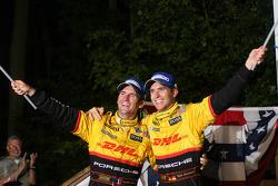 Timo Benhard and Romain Dumas celebrate