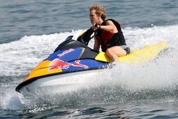 Sebastian Vettel, Scuderia Toro Rosso on a jet ski