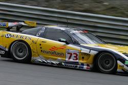 Rolling down towards Pouhon: #73 Luc Alphand Aventures Corvette C5-R: Jean-Luc Blanchemain, Sébastien Dumez, Vincent Vosse