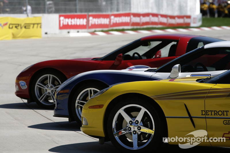 Corvette pace cars for the Grand Prix of Detroit