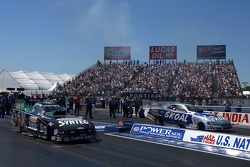 John Force and Tommy Johnson Jr.