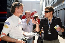 Jan Ullrich, Professional Road Bicycle rider with David Coulthard, Red Bull Racing