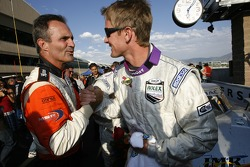 Mark Patterson congratulates race winner Ryan Hunter-Reay
