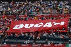 Motegi fans celebrate Ducati's win and world championship
