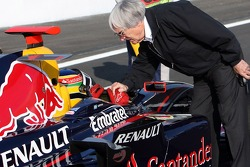 Bruno Senna, Arden International with Bernie Ecclestone