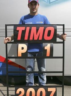 Timo Glock celebrates winning the 2007 GP2 Series Championship
