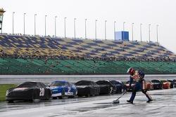 Rain delay during the LifeLock 400