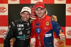 GT1 pole winner Thomas Biagi and GT2 pole winner Gianmaria Bruni