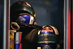 David Coulthard, Red Bull Racing, helmets