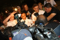 Lewis Hamilton, McLaren Mercedes after his meeting with the stewards