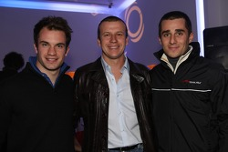 Nicolas Lapierre, driver of A1 Team France with Olivier Panis and Nicolas Prost, driver of A1 Team France