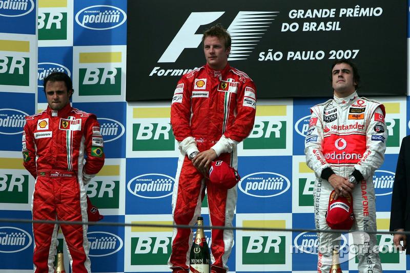 2007: 1. Kimi Räikkönen, 2. Felipe Massa, 3. Fernando Alonso