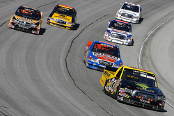 Justin Marks leads a pack of trucks