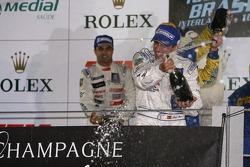 LMP1 podium: champagne shower for Marc Gene