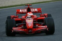 Michael Schumacher, Test Driver, Scuderia Ferrari, F2007, tests the Ferrari F2007