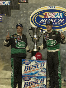 Championship victory lane: 2007 NASCAR Busch Series champion Carl Edwards