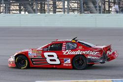 Dale Earnhardt Jr. drives his damaged #8 Chevrolet