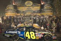 Championship victory lane: 2007 NASCAR Nextel Cup champion Jimmie Johnson